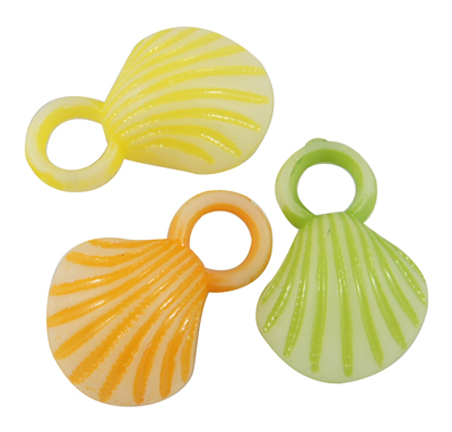 Sea Shell Charms (24) Asstd Colors