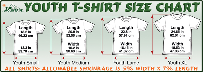 Please measure the shirt you have now and compare. The Mountain sizes ...