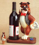 Boxer Dealer Wine Bottle Holder with Topper