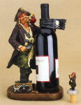 Pirate & Chest Wine Bottle Holder with Topper