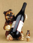 Bull Dog Wine Bottle Holder with Topper